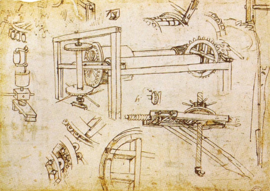 argano a tre velocità cupola di Brunelleschi