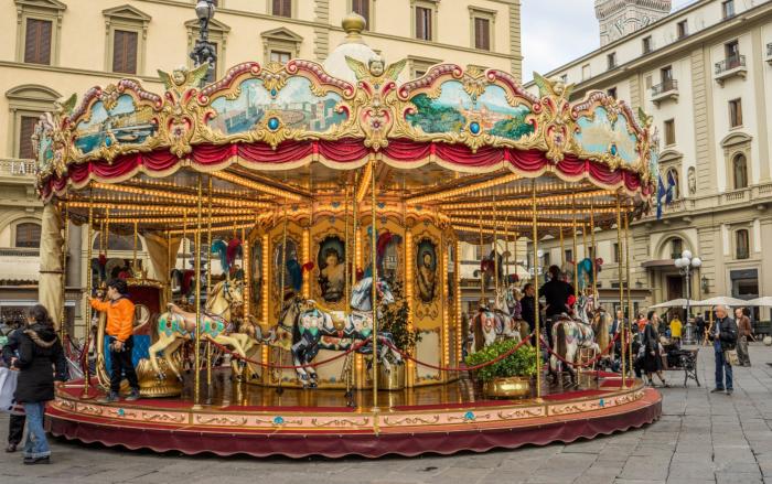 giostra piazza repubblica Firenze