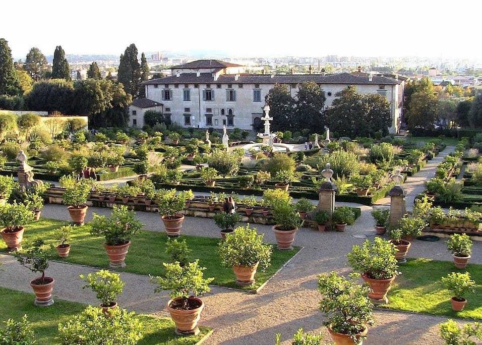 Giardino della Villa Medicea di Castello visione dall'alto