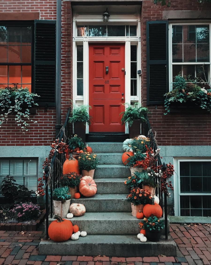 casa addobbata per halloween