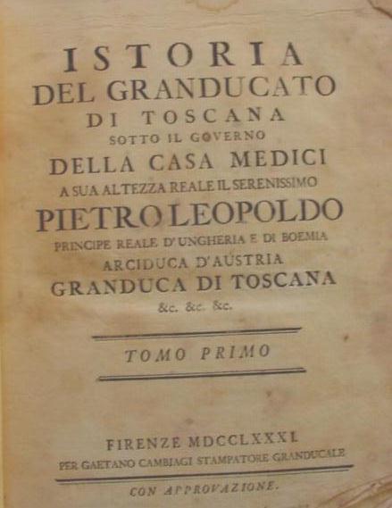 documenti storia granducato toscana