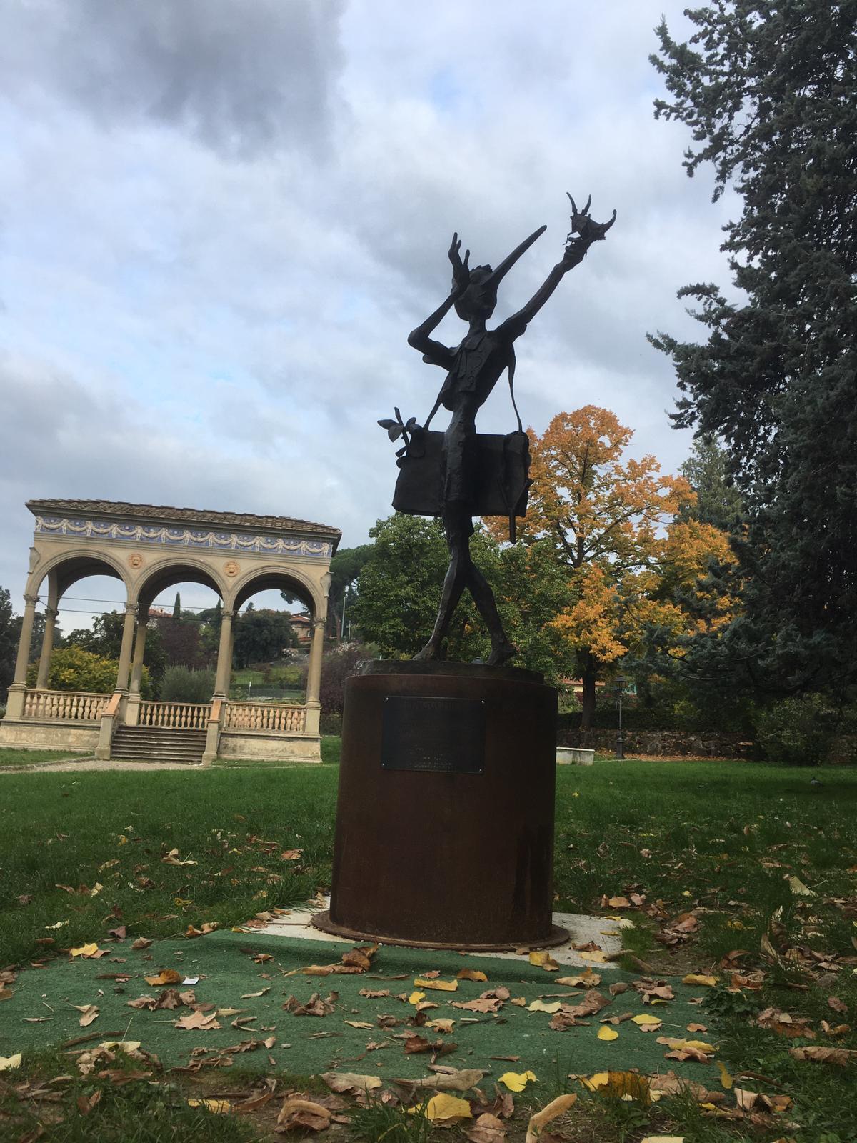 pinocchio scultura Orticoltura Firenze