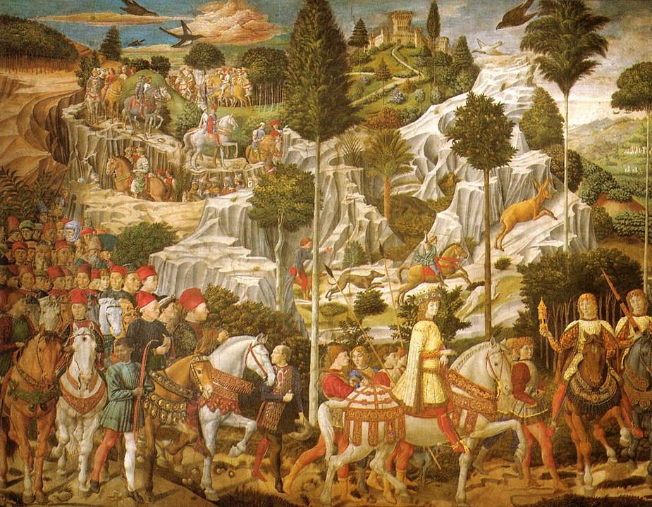 cappella dei magi benozzo gozzoli parete sud