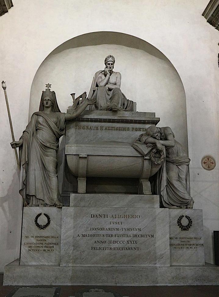 Tomba di Dante a Firenze Santa Croce