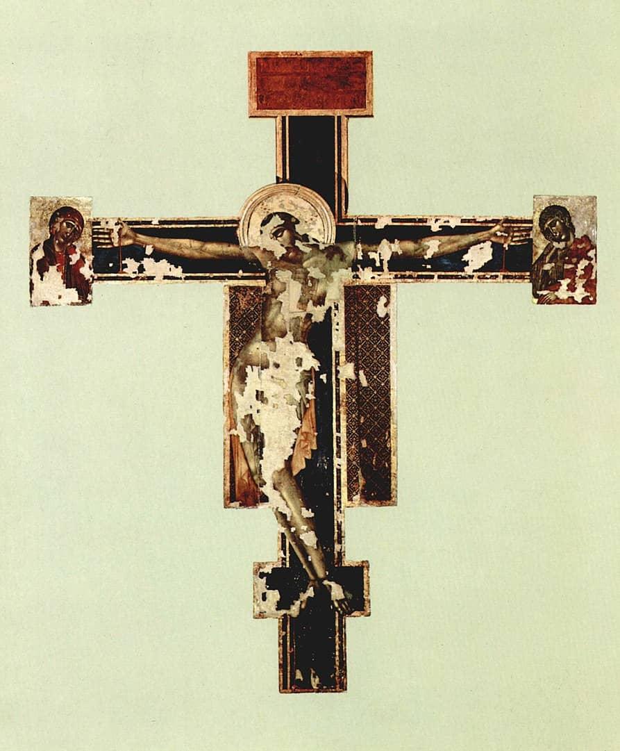 Crocifisso Cimabue dopo alluvione