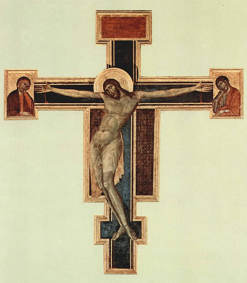 Crocifisso Cimabue Santa Croce prima alluvione