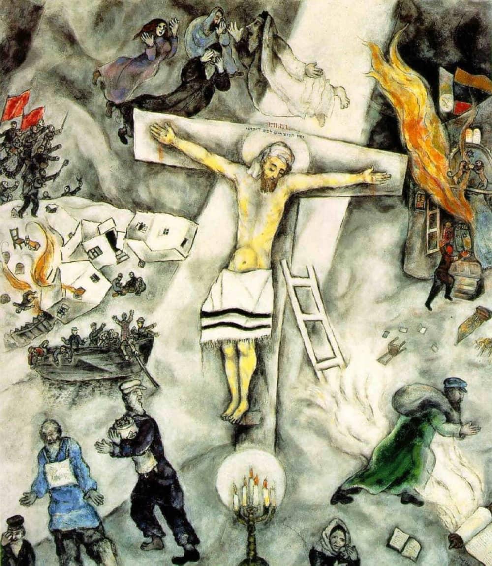 Crocifisso bianco Chagall
