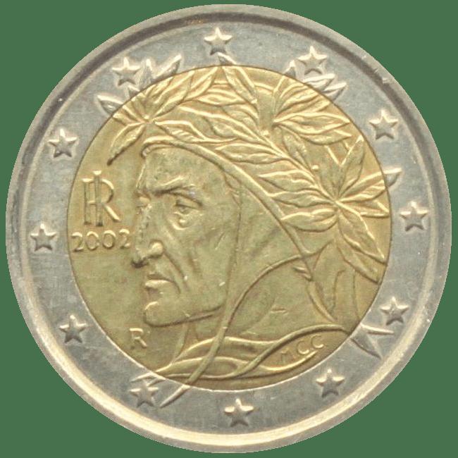2 euro Dante Alighieri profilo
