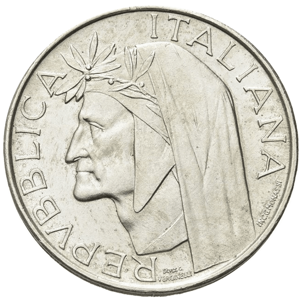 500 lire Dante Alighieri