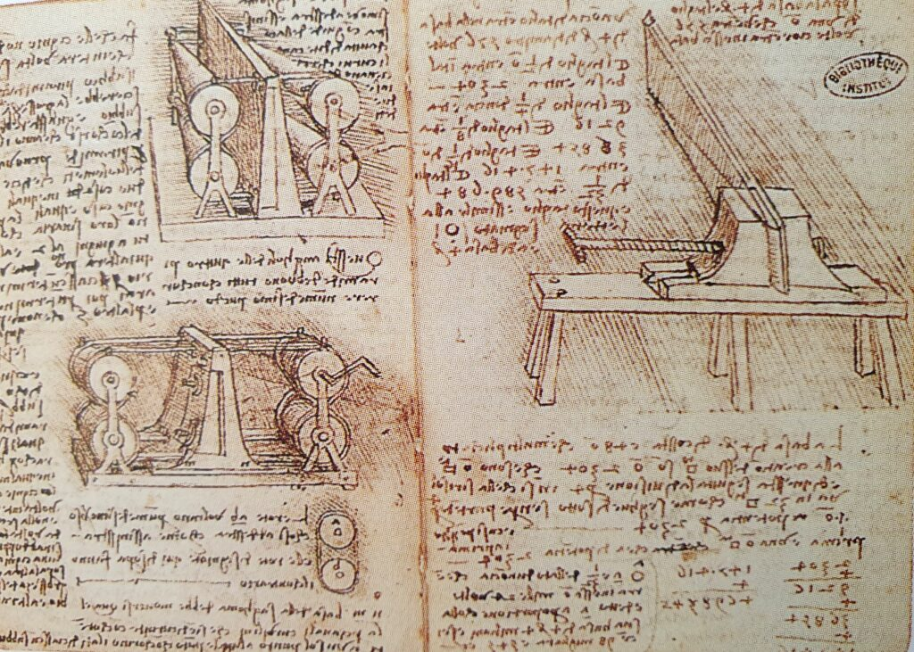 Macchina specchi concavi Leonardo da Vinci