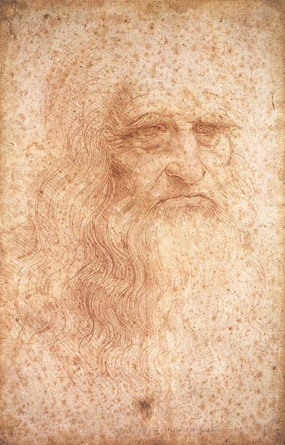 Leonardo Da Vinci autoritratto a matita
