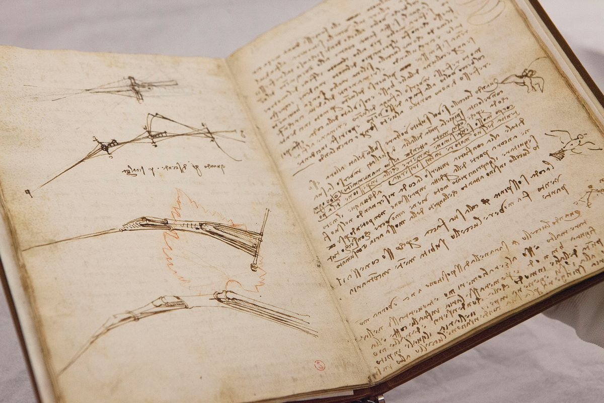 Scrittura speculare Leonardo da Vinci