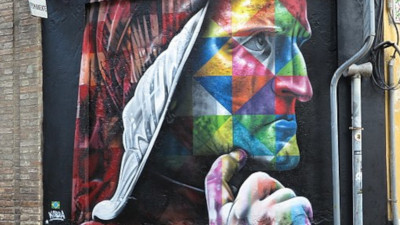 Dante Alighieri streetart