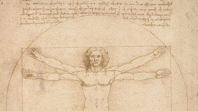 uomo vitruviano Leonardo Da Vinci