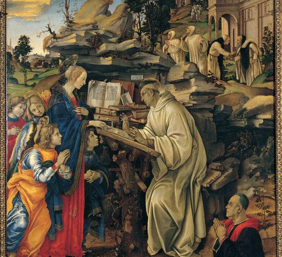 11Filippino Lippi Apparizione della Vergine a san Bernardo