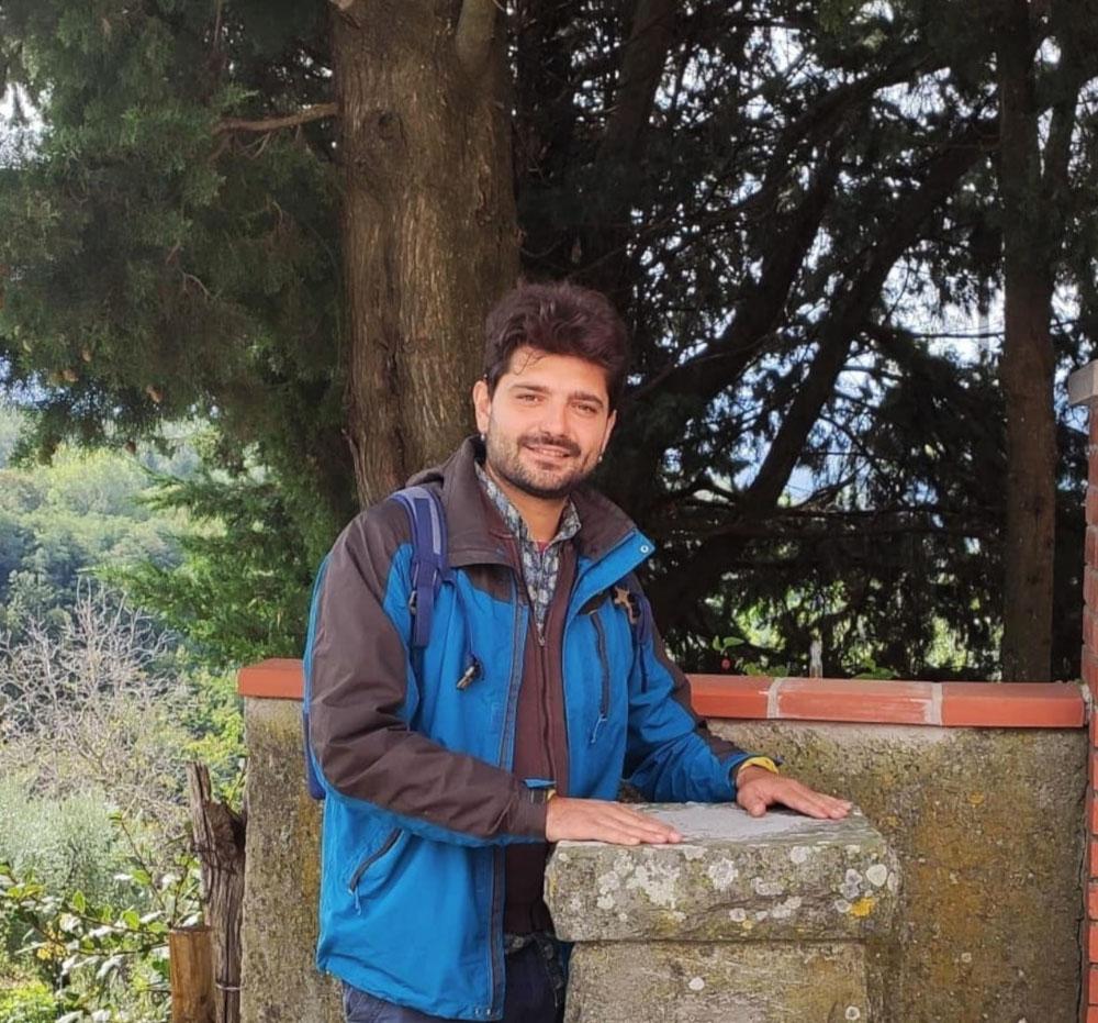Matteo Raciti a Castagno di Piteccio