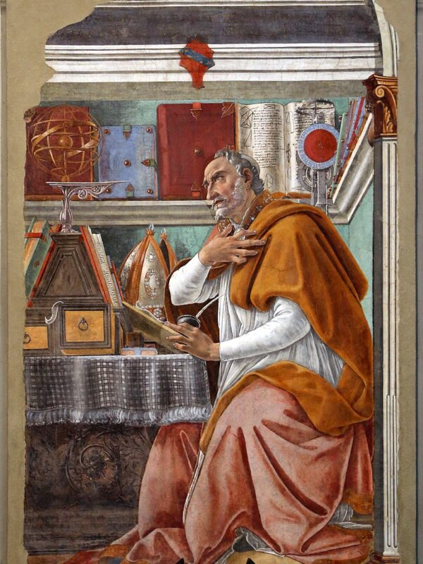 11Sant'Agostino Botticelli Ognissanti Firenze