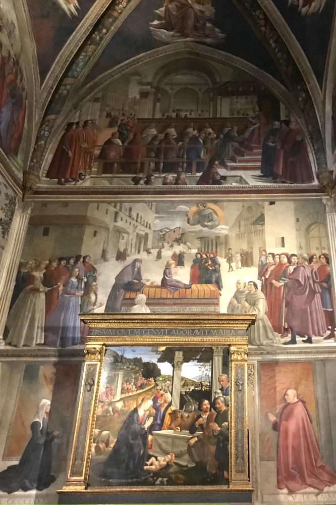 11cappella sassetti ghirlandaio santa trinita firenze